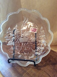 """CHRISTMAS PLATE by MIKASA CELEBRATIONS WINTER WONDERLAND - 7.5"""" Perfect for a Gift Piscataway Township, 08854"""