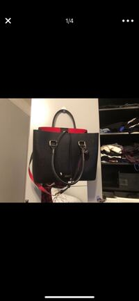 black and red leather tote bag New York, 10025