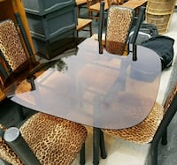 black and brown wooden table with chairs Long Beach, 90806