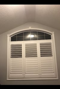 Custom made shutters starting at $20 a square foot.