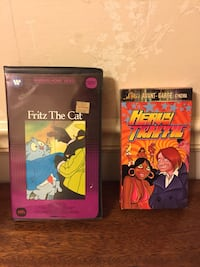 Heavy Traffic Avant-Garden Cinema box and Frtiz The Cat VHS Damascus, 20872
