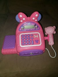 Pink and Purple Minnie Mouse cash register.  Watsonville, 95076