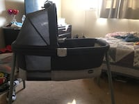 black and gray travel cot Los Angeles, 91342
