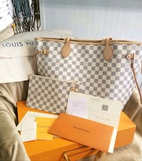 Louis Vuitton Neverfull MM Azur- beige