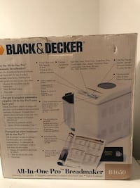 Bread Maker Brand New in the box 2 lb black & decker bread maker Mississauga, L4T 2K6