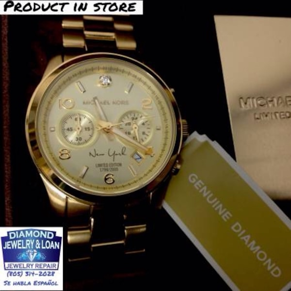 111e2a8d9103 Used Sale Limited Edition  Michael Kors Runway New York Diamond Watch for  sale in Santa Maria - letgo