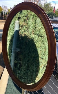 1954 stickley oval wall mirror in real cherrywood Lake Elsinore, 92530