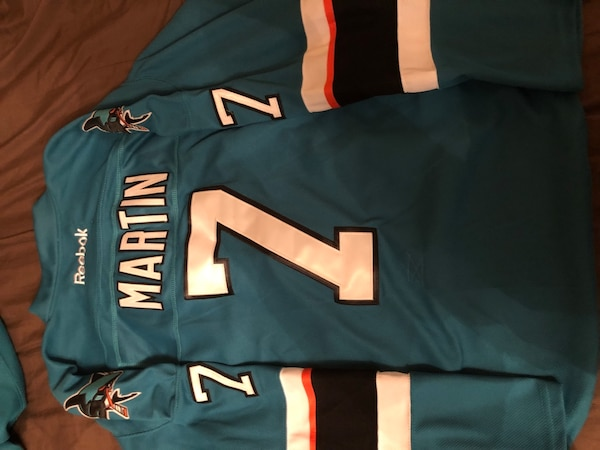 free shipping 123f4 64006 Used SJ Sharks Paul Martin #7 Jersey for sale in Sunnyvale ...