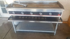 stainless steel burger gas grill.profecionall..res