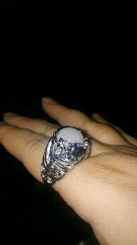 silver and blue gemstone ring Montreal, H8T