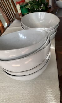 Dinnerware Plates and Bowls Set (IKEA white ceramic) Washington, 20016