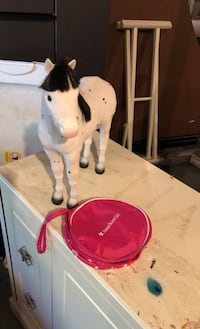 American girl doll horse and satchel