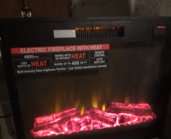Electric fireplace used once asking $100 pick up or meet up in warren thank you