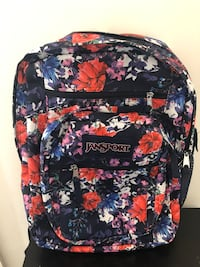 black and multicolored Jansport backpack 47 km