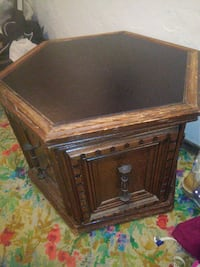 Octogon end table with double doors.  Oklahoma City, 73127