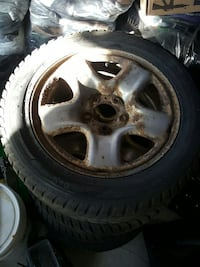 Winter tires and rims size 215/55/16