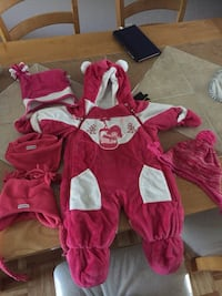 toddler's pink and white footie pajama