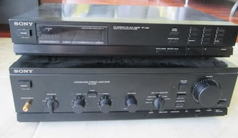 Sony AM/FM Stereo Tuner ST-J300 + Integrated Stereo