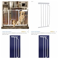 New, unused.. Carlson Extra Wide Pet Gate with additional extensions  St Thomas, N5R 6M6