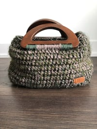 Handmade knit bag with wooden handle Toronto, M5G
