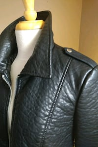 Blk faux leather biker style jacket Mississauga, L4T 3L6