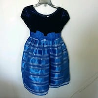 Little girl navy party dress