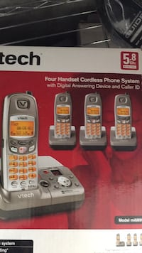 two white and red Vtech wireless telephones Westborough, 01581