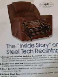 Steel Tech leather electric reclining sofa Ocala
