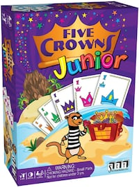 SET ENTERPRISES FIVE CROWNS JUNIOR CARD BOARD GAME WITH BOX