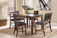 Meredy Brown 5-Piece Counter Height Set | D395 Katy, 77494