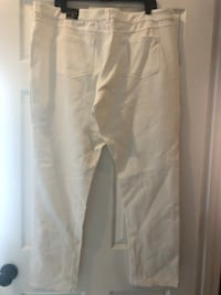 Ashley Stewart white pants size 22 1203 mi