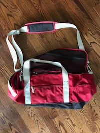 Red duffel bag Washington