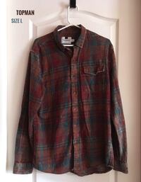 Topman Size L Distressed Shirt in Excellent Condition