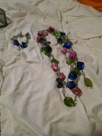 blue, green, and red beaded necklace Calgary, T2Y 4J3