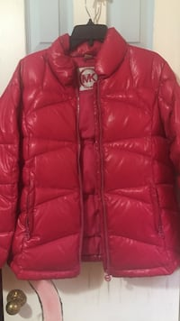 red zip-up bubble jacket Kennesaw, 30144
