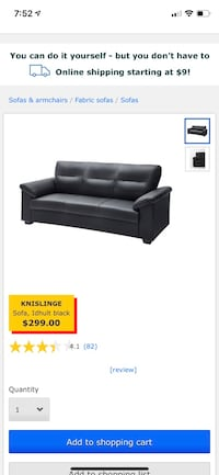 black leather 2-seat sofa screenshot 42 km