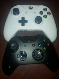 two white and black Xbox One controllers Lancaster, 93534