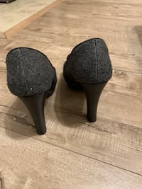 Grey fabric shoes
