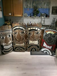 brown and black wooden wall decor 3713 km