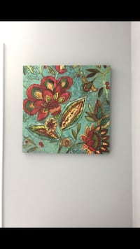 Flower canvas Cary