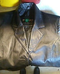 black leather collared jacket Pleasant Hill