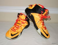 Nike LeBron 12 Witness Laser Orange Men's sz 13 Charlotte