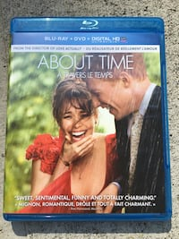 About Time Blue Ray, Digital HD & DVD (Good condition)