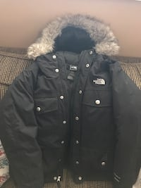 black button-up parka jacket