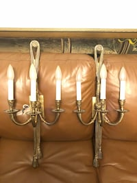 Two French brass electrical wall sconces Toronto, M2R 3N1