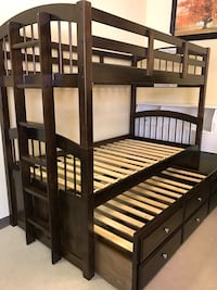 Bunk bed frame twin and twin