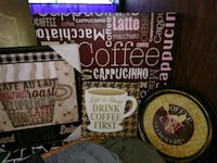 Coffee decor and clock Silver Springs, 34488