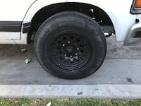 Rims 16's 8 lugs for cargo vans or ford excursion trade plus cash at your end power coated Huntington Beach, 92647