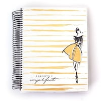 """""""PERFECTLY IMPERFECT"""" 18 MONTH PLANNER Silver Spring"""