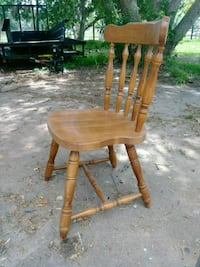 5 Solid wood chairs $25. Ea. Or all for$100. Rosharon, 77583